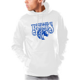 Under Armour White Armour Fleece Hoodie-Official Logo