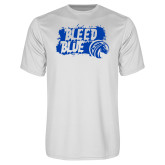 Syntrel Performance White Tee-Bleed Blue
