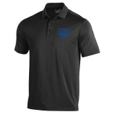 Under Armour Black Performance Polo-Official Logo