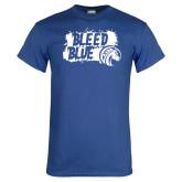 Royal T Shirt-Bleed Blue