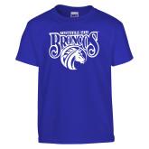Youth Royal T Shirt-Official Logo