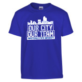Youth Royal T Shirt-Our City Our Team