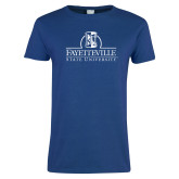 Ladies Royal T Shirt-Fayetteville State University Logo