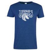 Ladies Royal T Shirt-Official Logo Distressed