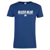 Ladies Royal T Shirt-Bleed Blue