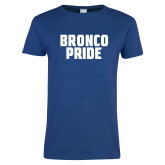 Ladies Royal T Shirt-Bronco Pride