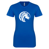 Next Level Ladies SoftStyle Junior Fitted Royal Tee-Bronco