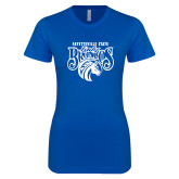 Next Level Ladies SoftStyle Junior Fitted Royal Tee-Lady Broncos