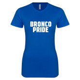 Next Level Ladies SoftStyle Junior Fitted Royal Tee-Bronco Pride