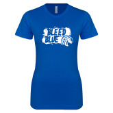 Next Level Ladies SoftStyle Junior Fitted Royal Tee-Bleed Blue