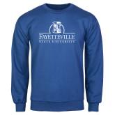 Royal Fleece Crew-Fayetteville State University Logo