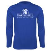 Performance Royal Longsleeve Shirt-Fayetteville State University Logo