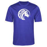 Performance Royal Heather Contender Tee-Bronco