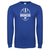 Royal Long Sleeve T Shirt-Football Design