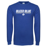Royal Long Sleeve T Shirt-Bleed Blue