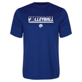 Performance Royal Tee-Volleyball Design