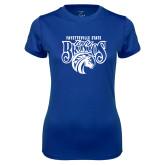 Ladies Syntrel Performance Royal Tee-Lady Broncos