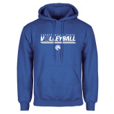 Royal Fleece Hoodie-Volleyball Design
