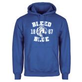 Royal Fleece Hood-Bleed Blue 1867