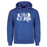 Royal Fleece Hood-Bleed Blue