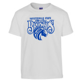 Youth White T Shirt-Lady Broncos