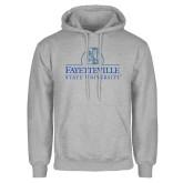 Grey Fleece Hoodie-Fayetteville State University Logo