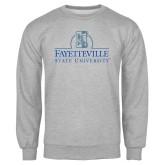 Grey Fleece Crew-Fayetteville State University Logo