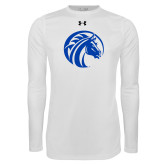 Under Armour White Long Sleeve Tech Tee-Bronco