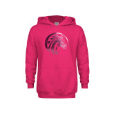 Youth Raspberry Fleece Hoodie-Bronco Foil