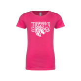 Youth Girls Fuchsia Fashion Fit T Shirt-Official Logo