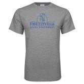 Grey T Shirt-Fayetteville State University Logo