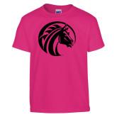 Youth Fuchsia T Shirt-Bronco Foil