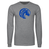 Grey Long Sleeve T Shirt-Bronco