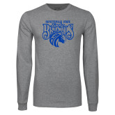 Grey Long Sleeve T Shirt-Lady Broncos