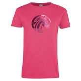 Ladies Fuchsia T Shirt-Bronco Foil