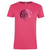 Ladies Fuchsia T Shirt-Bronco Foil