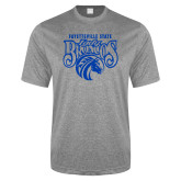 Performance Grey Heather Contender Tee-Lady Broncos