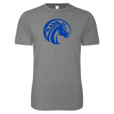 Next Level SoftStyle Heather Grey T Shirt-Bronco