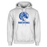 White Fleece Hood-Basketball