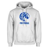 White Fleece Hood-Football