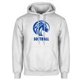 White Fleece Hood-Softball