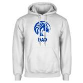 White Fleece Hood-Dad