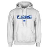 White Fleece Hood-Volleyball Design