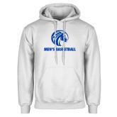 White Fleece Hood-Mens Basketball