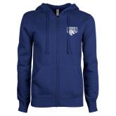 ENZA Ladies Royal Fleece Full Zip Hoodie-Official Logo