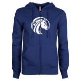 ENZA Ladies Royal Fleece Full Zip Hoodie-Bronco