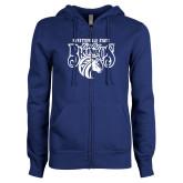 ENZA Ladies Royal Fleece Full Zip Hoodie-Lady Broncos
