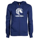 ENZA Ladies Royal Fleece Full Zip Hoodie-Basketball