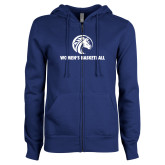 ENZA Ladies Royal Fleece Full Zip Hoodie-Womens Basketball