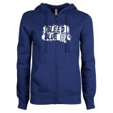 ENZA Ladies Royal Fleece Full Zip Hoodie-Bleed Blue